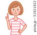 女性 人物 注意のイラスト 31921922