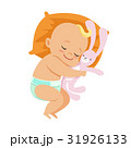 Adorable little baby in a diaper sleeping and 31926133