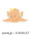 Sweet little baby lying on his stomach, colorful 31926157