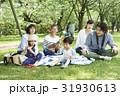 家族 ピクニック 親子の写真 31930613