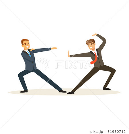 Two businessmen fighting, business competition 31930712