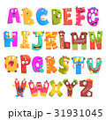 Colorful cartoon children English alphabet with 31931045