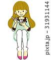 女の子 女性 スマホのイラスト 31931144