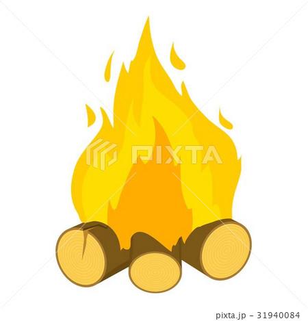 Burning bonfire icon, cartoon style 31940084
