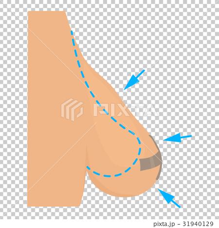 Breast reduction plastic correction icon 31940129