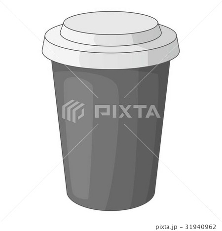 Paper cup of coffee icon monochromeのイラスト素材 [31940962] - PIXTA