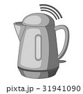 Plastic electric kettle with wi fi connection icon 31941090