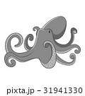 Octopus icon monochrome 31941330