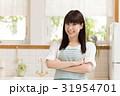 笑顔 キッチン 台所の写真 31954701