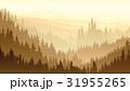 霧 城 城郭のイラスト 31955265