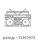 Retro style audio tape recorder, ghetto boom box 31957973