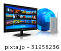 テレビ テレビジョン インターネットのイラスト 31958236