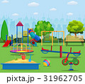 Kids playground cartoon concept background. 31962705