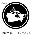 vector illustration white map of Canada  31975871