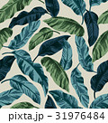 Seamless exotic pattern with tropical leaves. 31976484