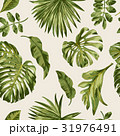 Seamless exotic pattern with tropical leaves. 31976491