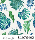 Seamless exotic pattern with tropical leaves. 31976492