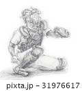 野球キャッチャー 手書きイラスト 31976617