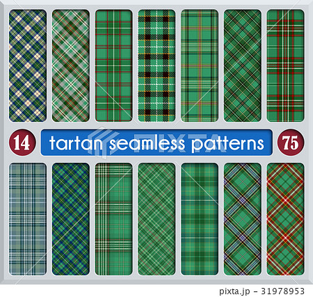 Set Tartan Seamless Patternのイラスト素材 [31978953] - PIXTA