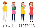 働く女性 イラスト 子育て介護 31979113