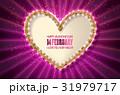 Retro light banner.Valentine s card. 31979717