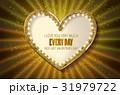 Retro light banner.Valentine s card. 31979722