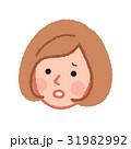 女性 顔 困るのイラスト 31982992