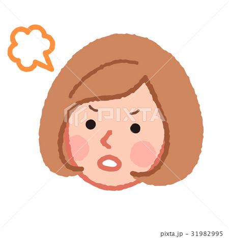 怒る女性の顔 31982995