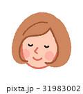 女性 人物 顔のイラスト 31983002