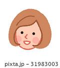 女性 顔 笑顔のイラスト 31983003