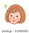 女性 顔 考えるのイラスト 31983005