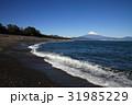 海 波打ち際 富士山の写真 31985229