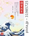 年賀状 テンプレート 戌のイラスト 31985725