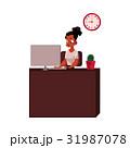 女性 仕事 オフィスのイラスト 31987078