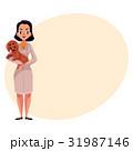 獣医 獣医師 女性のイラスト 31987146