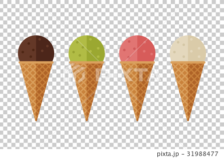 Ice cream flat icons 31988477