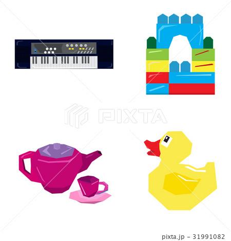 Set of geometric toysのイラスト素材 [31991082] - PIXTA