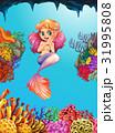 海 海原 マーメイドのイラスト 31995808