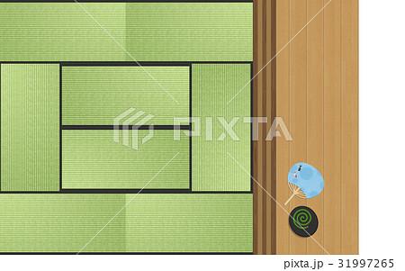 和室と敷居と縁側 (真俯瞰) 31997265