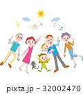 仲良し 三世代家族 笑顔のイラスト 32002470
