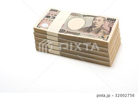 日本紙幣 日本銀行券 1万円札の札束 ブロック 32002756