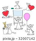 ねこ ネコ 猫のイラスト 32007142
