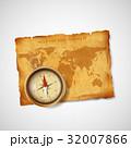 コンパス 旅 地図のイラスト 32007866