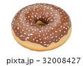 chocolate donut, 3D rendering 32008427