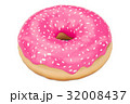 pink donut with decorative sprinkles, 3D rendering 32008437