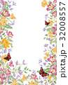 フレーム 花 背景のイラスト 32008557