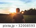 夕日 夕焼 日没の写真 32008593