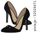 Black needle heel shoes 32029471