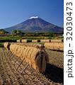 富士山 田んぼ 田園の写真 32030473