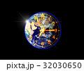 地球と時計 32030650